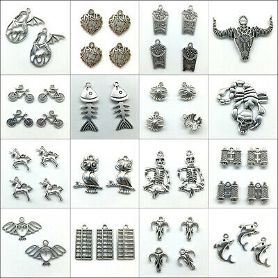 Wholesale Antique Silver Charms Pendants Carfts Jewelry Finding DIY Accessories