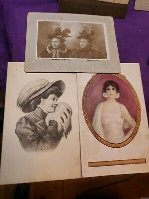 Lot Of 6 Vintage Photographs & 2 Post Cards