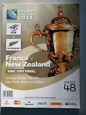 New Zealand ALL BLACKS vs. France 23rd October 2011 Rugby WC Final Programme