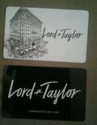 Lord & Taylor Gift Card, New York City Landmark Store Building Collectible, Mint
