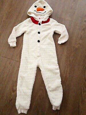 OLAF ALL IN ONE AGE 5 Years JOHN LEWIS FAB CONDITION COSY SLEEP SUIT Worn once