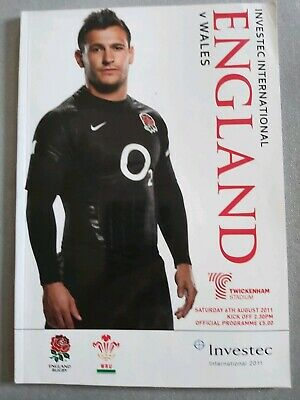 England v Wales 6th August 2011 Twickenham RUGBY PROGRAMME
