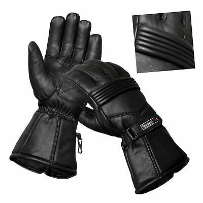 Thermal Motorbike Motorcycle Leather Gloves Protection Winter Summer