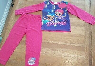 Girls shimmer and shine pyjama pj set top and trousers age 4-5 years
