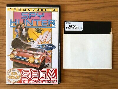 Commodore 64 Disk Game - Spy Hunter by US Gold / Sega * Tested * Working *