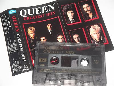 Queen - The Greatest Hits Cassette Tape EMI Turkey Issue Dark Shell  TCP2159