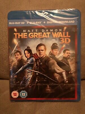 The Great Wall (3D Blu-ray 2017) new and sealed