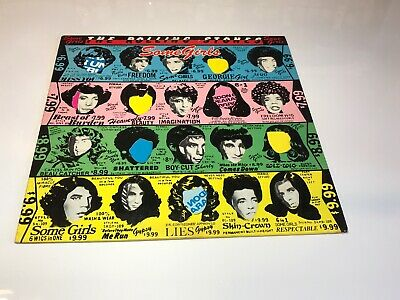 The Rolling Stones Some Girls LP 1978 COC 39108 Die-Cut Vinyl Record
