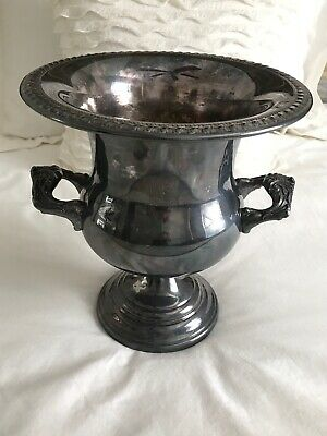 Antique Sheridan Silver Plate RARE Urn Ice BUCKET Champagne COOLER ORNATE PIECE