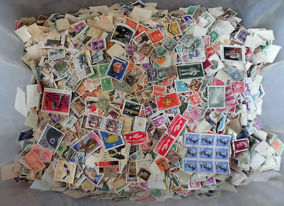 100 grams, All World Stamps Collection Mixture. Off Paper No GB. New Lot 35