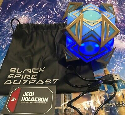Disney Parks Star Wars Galaxy's Edge Jedi Holocron w/Lights and Sounds - New