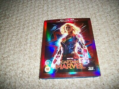 CAPTAIN MARVEL (2019) 3D + 2D Blu-Ray with slipcover