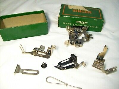 Lot of Vintage Singer Sewing Machine Attachments Simanco in box 160809