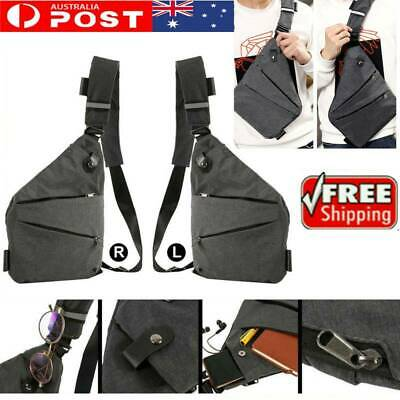 NEW Man Waterproof Personal Shoulder Pocket Bag Cross body sling - Anti Theft ON