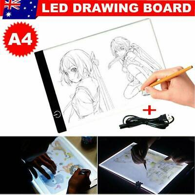Ultra Thin A4 LED Art Stencil Board Light Tracing Drawing Pad 3 Brightness Level