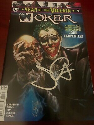 THE JOKER Year of the Villain #1  DC Comics SIGNED BY John Carpenter (Halloween)