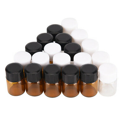 5pcs 2ml small lab glass vials bottles clear containers with screw cap TEV$