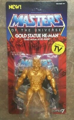 Super7 Super 7 Masters Of The Universe Vintage Gold He-Man Statue In Hand!!