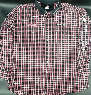 Wrangler PBR Western Rodeo Shirt Plaid Size Mens XXL Professional Bull Riding