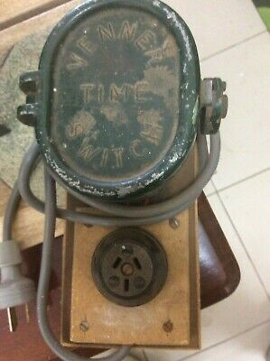 Vintage Venner Time Switch Industrial Clock Switch Power Timer