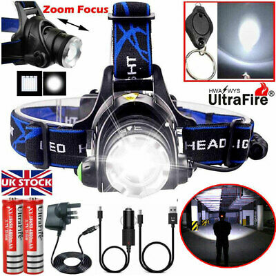 Zoomable 90000LM CREE T6 LED Headlamp Headlight Flashlight Head Torch Work Light