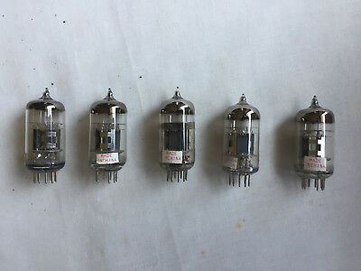 12AT7 Valves Triple Mica NOS Tubes x 5