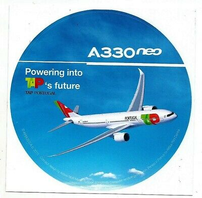 STICKER AUTOCOLLANT AIRBUS A330neo TAP AIR PORTUGAL Neuf