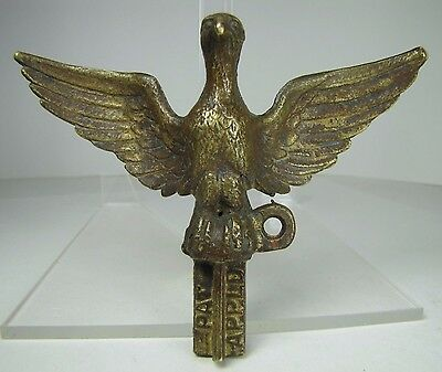 ANTIQUE BRONZE EAGLE Finial Ornate Architectural Hardware signed MC PAT APPLD