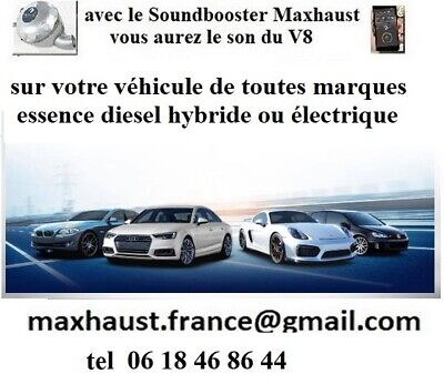 Soundbooster Active Sound Maxhaust Pop and Bang  Bluetooth Tuning toutes marques