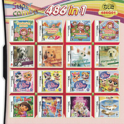 486 in1 NDS Games Cartridge for NDS NDSL NDSi 3DS 2DS Girl Video Game Card Xmas