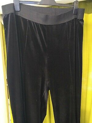 Black velvet elasticated bonmarche size 24 pull on trousers used