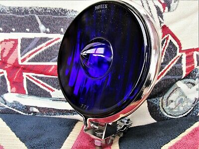 RARE 1960's NOTEK BLUE GLASS SPOT LIGHT VW  CLASSIC CAR VIGANO LAMBRETTA VESPA