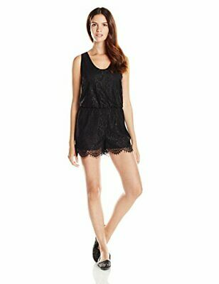 Sam Edelman Women's Lace Romper, Black 12