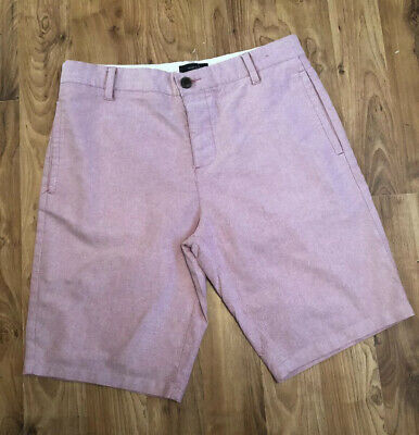 Mens Waist 32 Pink Smart Casual Shorts From River Island Vgc Knee Length
