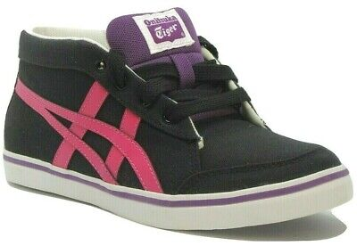 Womens Girls Onitsuka Tiger Renshi Mid Canvas Fashion Trainers Sneakers Size