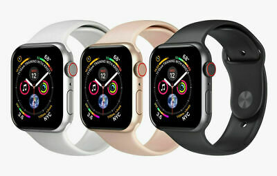 Apple Watch Series 4 -40mm & 44mm- GPS + Cellular 4G LTE -Gold Space Gray Silver