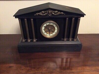 Antique Slate/ Marble Architectural Mantle Clock