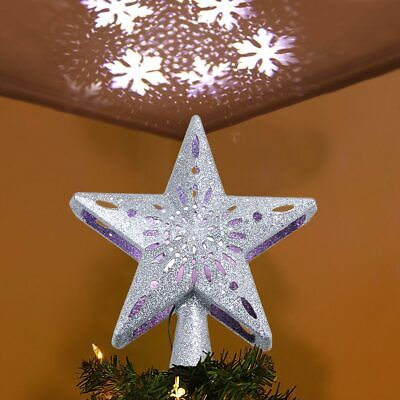D Hollow Star Christmas Tree Topper Snowflake Project Lighted Star Tree Topper