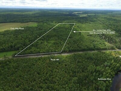 40 ACRES - Country Acreage and Woodland in New Brunswick, CANADA