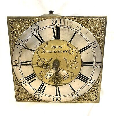 Antique Longcase Grandfather Clock Brass Dial and Movement : PREW TEWKSBURY