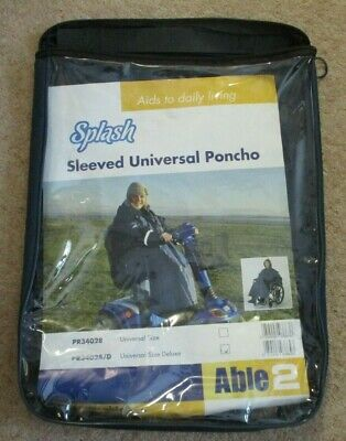 Splash Universal Poncho Sleeved Deluxe Lined PR34028/D MOBILITY SCOOTER W/CHAIR