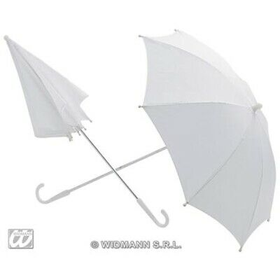 White Fancy Dress Parasol - Umbrella Novelty Prop Accessory Further Wedding