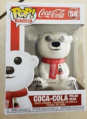 Funko Pop! Ad Icons COCA-COLA POLAR BEAR Vinyl Figure # 58 On Hand NEW