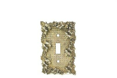 Brass Ornate Light Switch Cover/Plate
