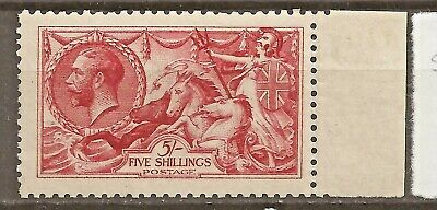 GB GREAT BRITAIN SG 409, KGV 5s SEAHORSE MINT (2 scans).