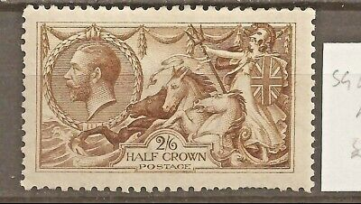 GB GREAT BRITAIN SG 407, KGV 2/6s SEAHORSE MINT (2 scans).