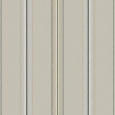 6 rolls Ralph Lauren Designers Guild 'Dunston Stripe' wallpaper (Dove)