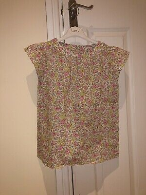 RRP£83 Bonpoint Liberty Print Floral Cotton Summer Blouse Age 12 Yrs Pink BNWT