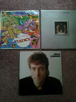 3 Vinyl Records/LPs; Beatles Rarities, Beatles Oldies & John Lennon Collection