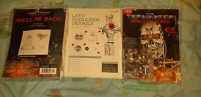 BUILD THE TERMINATOR T-800 Robot Hachette Partworks Mag Issue 33 New!